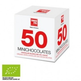 50 Minichocolates Chocolate Blanco 30% Cacao 250gr