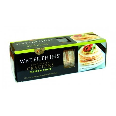 Wafer crackers pimienta y cebollino 100gr